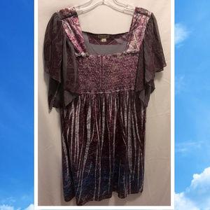 Size Large One World Dress Velvet